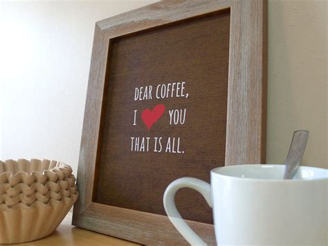 Coffee Sign Kitchen Wall Art Coffee Prints Coffee Love