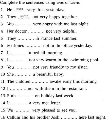 Ejercicios De Ingles Basico  Ejemplos De