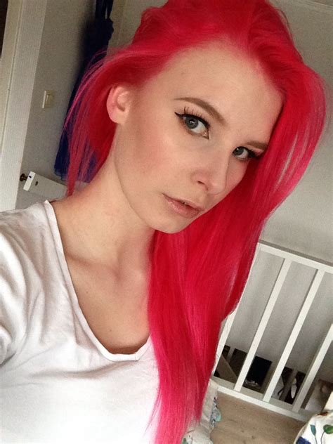 neon poppy red hair colors ideas