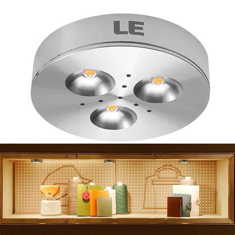 3W LED Under Cabinet Lighting, 240lm 12VDC 3000K Puck