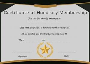 free membership certificates 14 templates in word format With honorary member certificate template