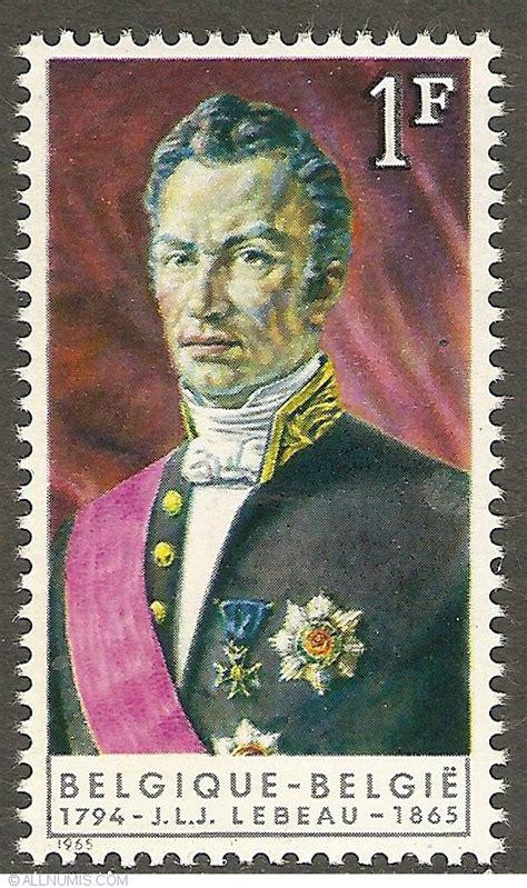 franc  joseph lebeau person personality belgium stamp