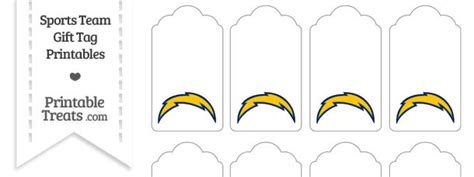 San Diego Chargers Gift Tags
