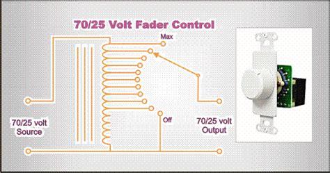 70 Volt Volume Wiring Diagram by 70 25 Volt Audio