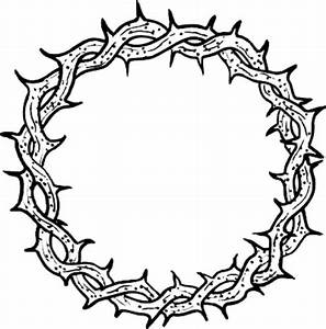 Jesus Crown Of Thorns Coloring Coloring Pages