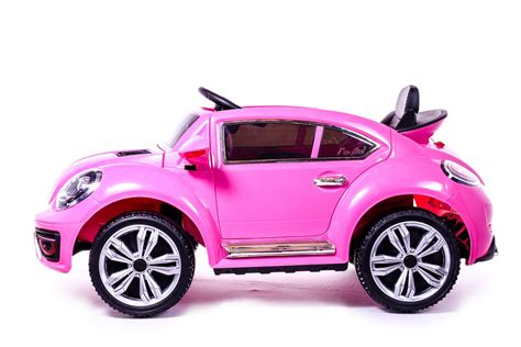 Pink Beetle Car by Battery Powered 12v Pink Beetle Ride On Car