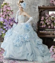 blue dresses for wedding blue wedding dress with floral gown sang maestro