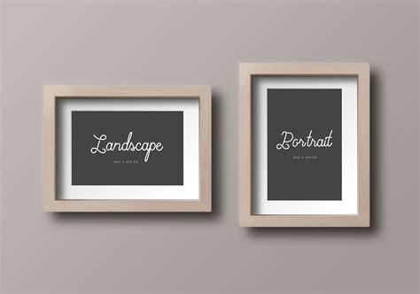 Photo Frames On Wall Set Of Picture Frame Mockups Mockupworld
