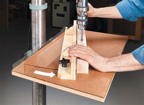 quick  easy drill press table woodworking project