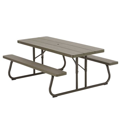 lifetime round picnic table lifetime brown plastic folding picnic table 10 pack on