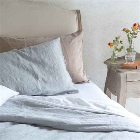 white chaise easy care bed linen lazy linen loaf loaf