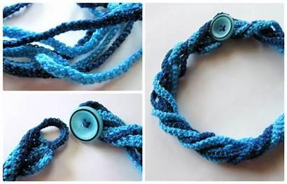 Crochet Necklace Pattern Jewelry Twist Crocheted Easy