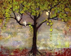 moon river tree owls by blenda studio