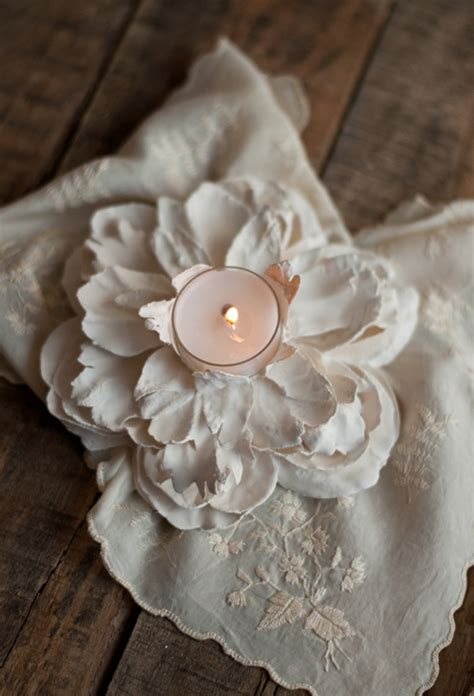 plaster flower votives diy crafts handimania