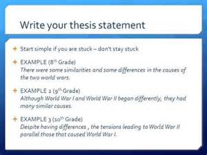 how to write a thesis statement ehow