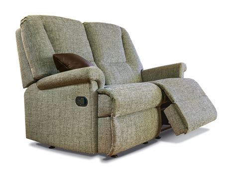 Reclining Settees by Milburn Standard Fabric Reclining 2 Seater Settee