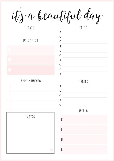 printable irma daily planners daily planner