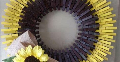 beautiful sunflower clothespin wreath  pintasticwreaths