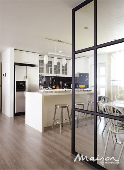 kitchen partition design glass partition wall for kitchen dining area home decor 2421