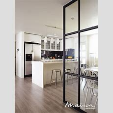 Glass Partition Wall For Kitchendining Area  Home Decor