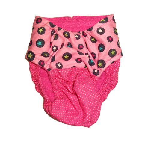 Barkertime Star Circles On Pink Washable Cat Diaper Made