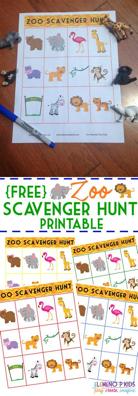 zoo scavenger hunt printable kid network 538   bf4a27d43c8f7aee91b2b216103d3879
