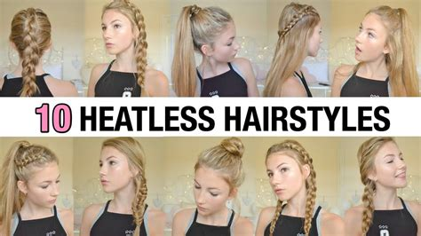 10 Back To School Heatless Hairstyles YouTube Back to