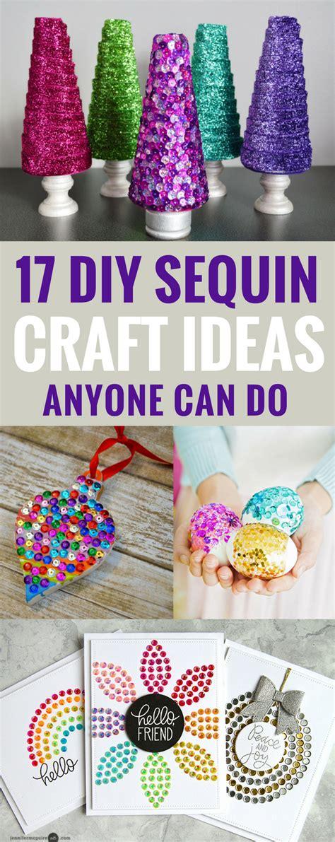 diy sequin crafts ideas anyone can do