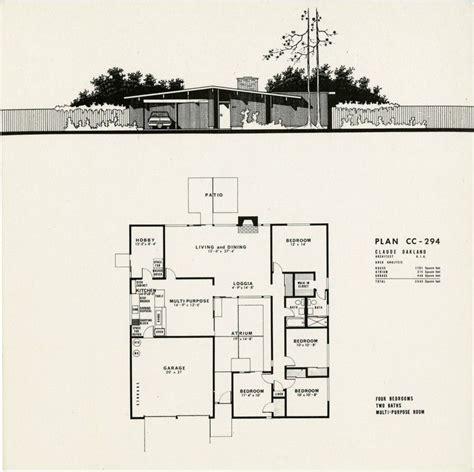 plans   model eichler homes  concord eichler mid