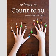Iheartspeechcom 10 Ways To Count To 10