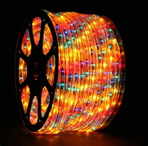 150 multicolor chasing rope light 5 wire 15mm 120 volt