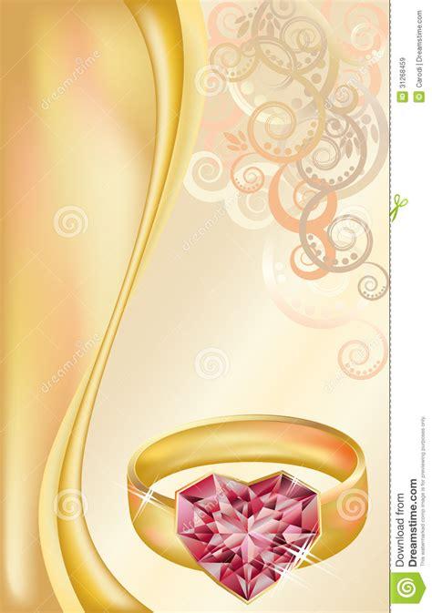 wedding invitation card  golden ring royalty