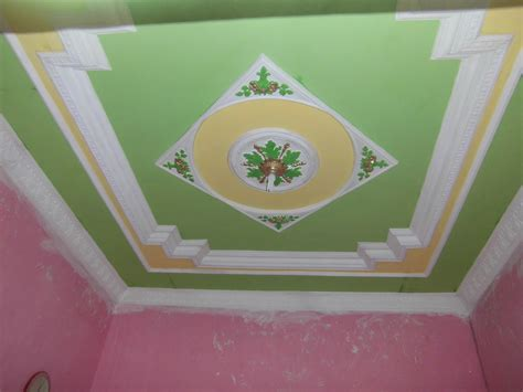 kombinasi warna cat plafon gypsum interior rumah