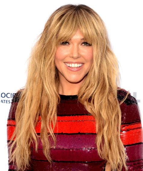 rachel platten long wavy casual hairstyle  blunt cut
