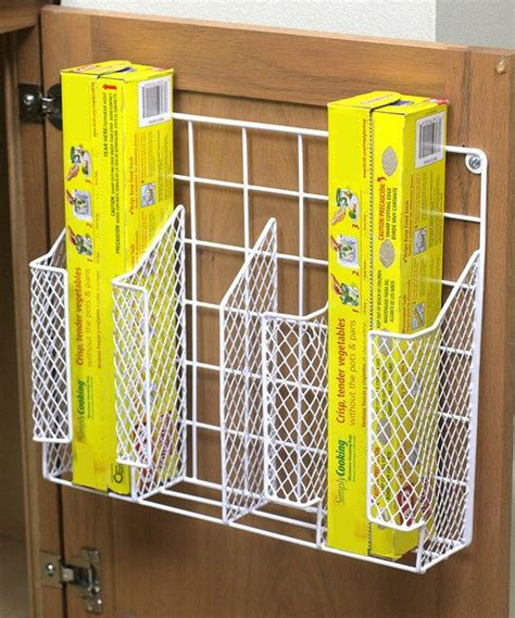 kitchen wrap storage home basics door mount wrap organizer cabinet space 3529