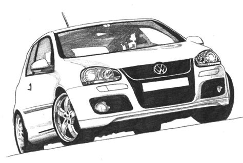 Kleurplaat Golf Gti by Volkswagen Mkv By Akukam On Deviantart