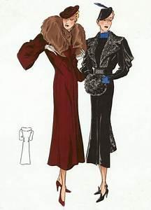 30s Fashion Ladies' Outerwear | 1930s Fashion Fashion Art ...