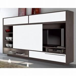 Porte Tv Mural : meuble tv mural brown slide couleur marron mati achat vente meuble tv meuble tv mural brown ~ Teatrodelosmanantiales.com Idées de Décoration