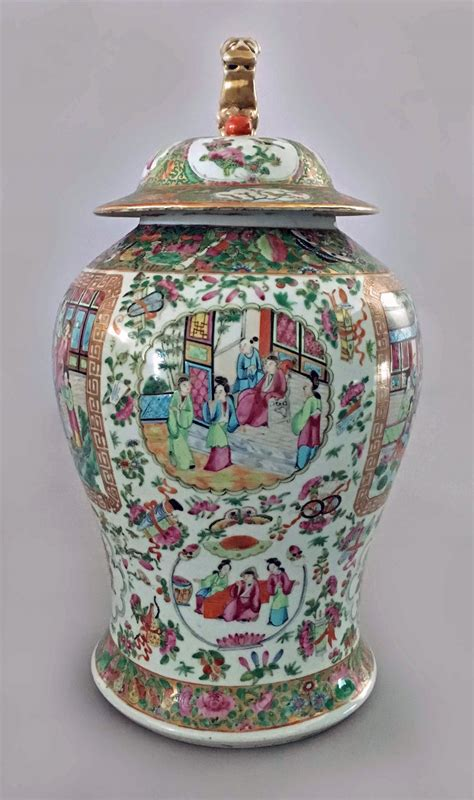 Large Vase With Lid by Antique Large Famille Vase With Lid Circa 1830