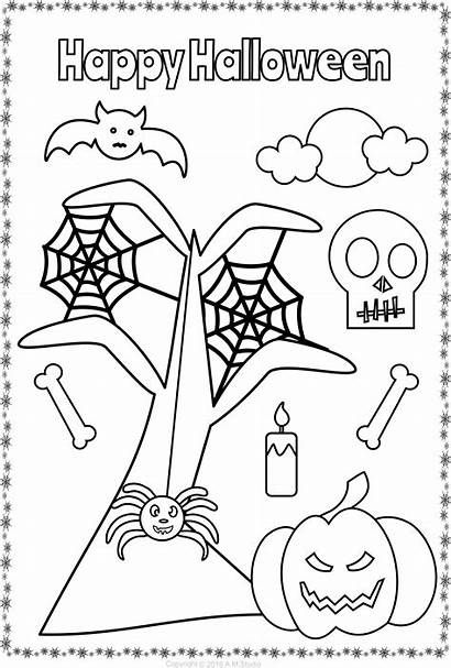 Coloring Halloween Themed Teacherspayteachers