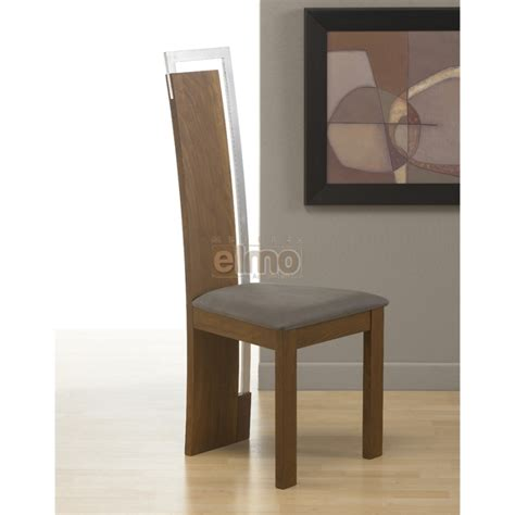 chaises design salle à manger chaise salle à manger design moderne bois massif et chrome