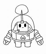 Brawl Stars Sprout Colorear Dibujos Robot Wonder sketch template