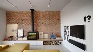 Mur Brique Salon : salon avec mur de briques ~ Zukunftsfamilie.com Idées de Décoration