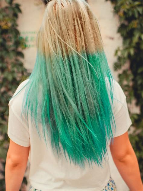 26 Inch Bleach And Lime Green Ombre Clip In Hair