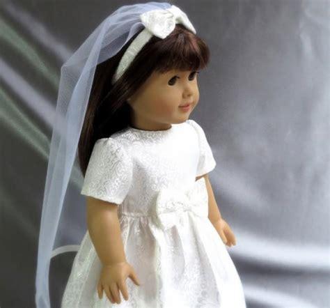 american girl  communion dress  veil