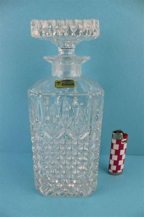 alte bleikristall karaffe lausitzer glas ddr karaffe
