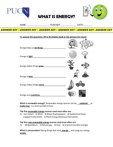worksheet 4 6 forms of energy answer key energy renewables and conservation elementary school