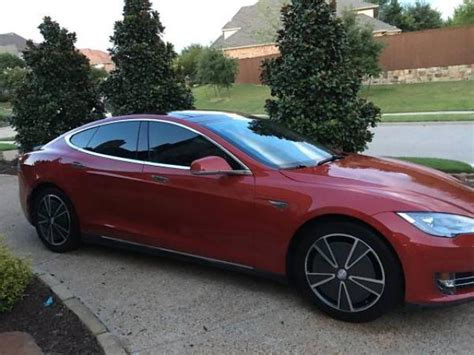 Fully Electric Cars For Sale by Preowned Tesla Model S P85 Fully Loaded Dallas Plano