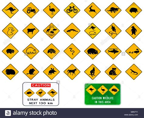 Australian Warning Road Signs From Australia Highways