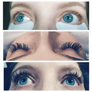 Before and after eyelash extensions! Amazing look on a ...